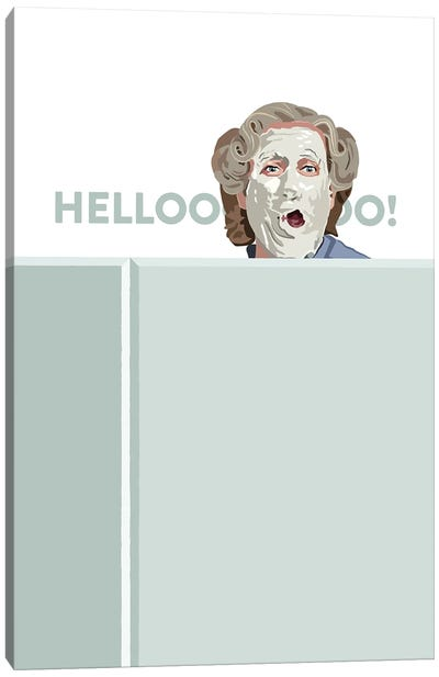 Mrs. Doubtfire Hello Illustration Canvas Art Print