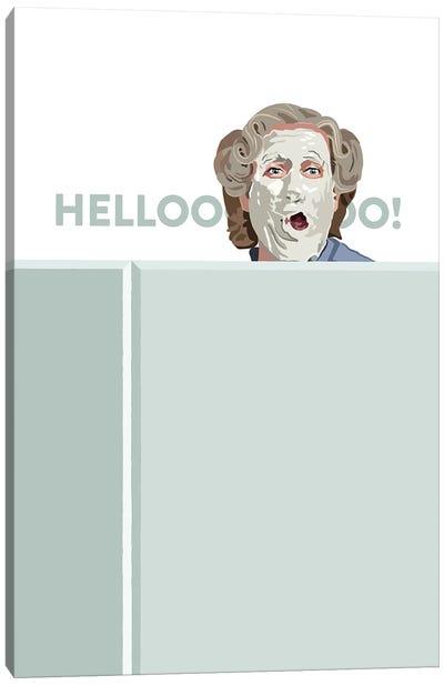 Mrs. Doubtfire Hello Illustration Canvas Art Print