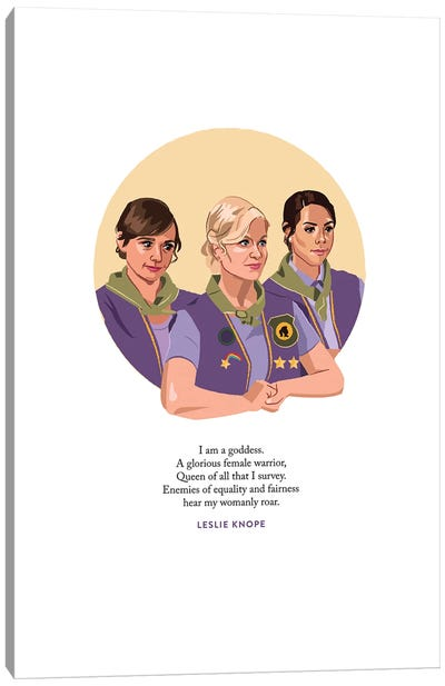 Pawnee Goddesses Illustration Parks And Rec Canvas Art Print