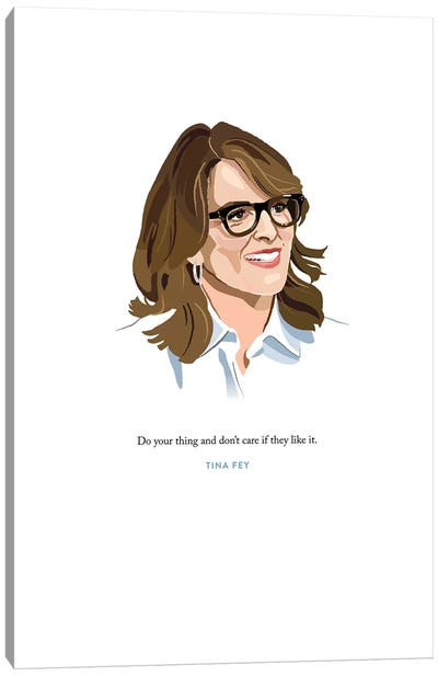 Tina Fey Illustration Canvas Art Print