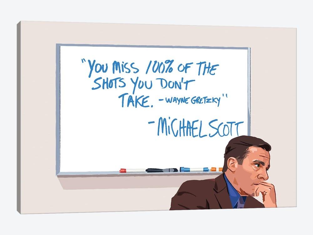 Michael Scott Wayne Gretzky Illustration by Holly Van Wyck 1-piece Art Print