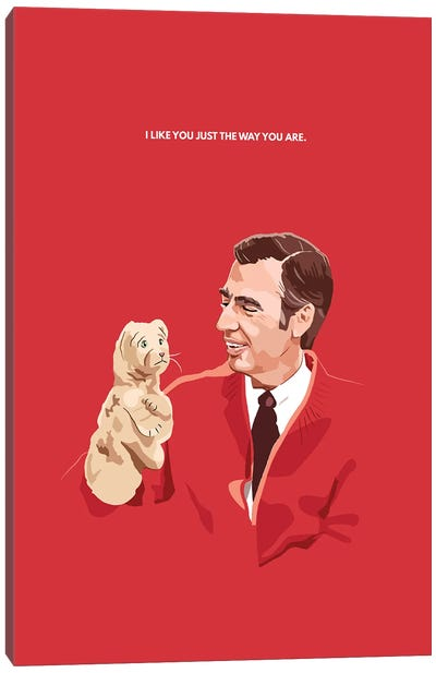 Mr. Rogers And Daniel Illustration Canvas Art Print