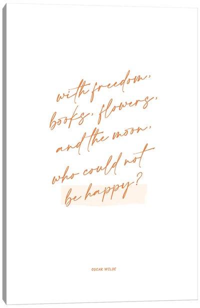 Oscar Wilde Quote Illustration Canvas Art Print
