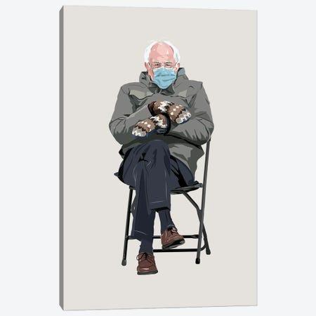 Bernie Sanders And His Mittens Canvas Print #HVW33} by Holly Van Wyck Art Print