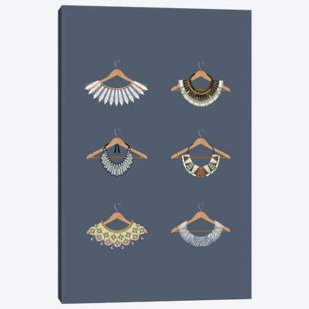 Rbg Minimalist Collars Canvas Print #HVW34} by Holly Van Wyck Canvas Artwork