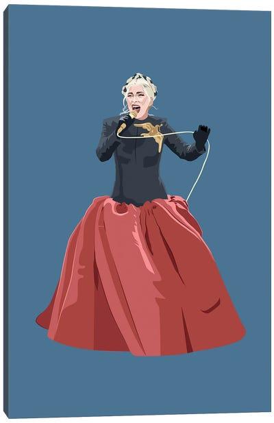 Lady Gaga Inauguration Dress Canvas Art Print