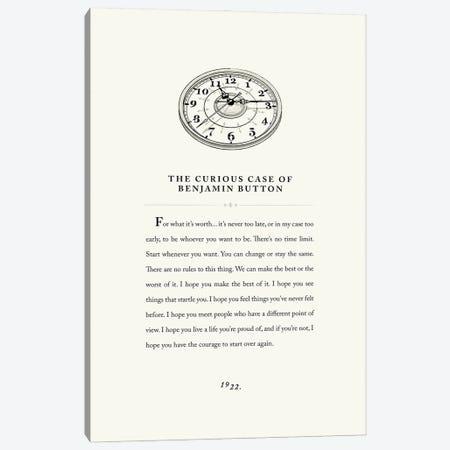 Benjamin Button Vintage Book Design Canvas Print #HVW36} by Holly Van Wyck Canvas Artwork