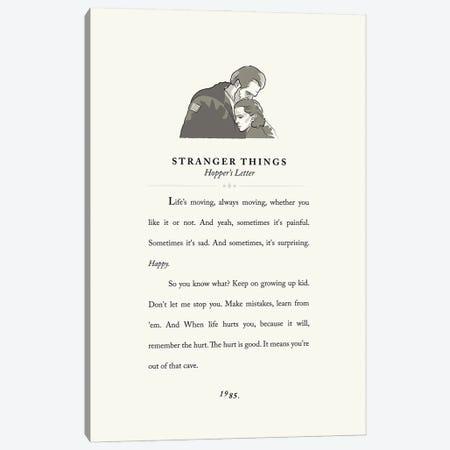 Stranger Things Vintage Book Design - Hopper's Letter Canvas Print #HVW37} by Holly Van Wyck Canvas Artwork