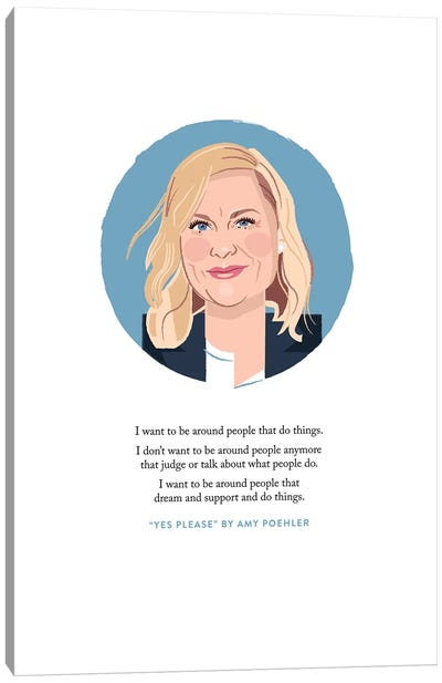 Amy Poehler Illustration Canvas Art Print