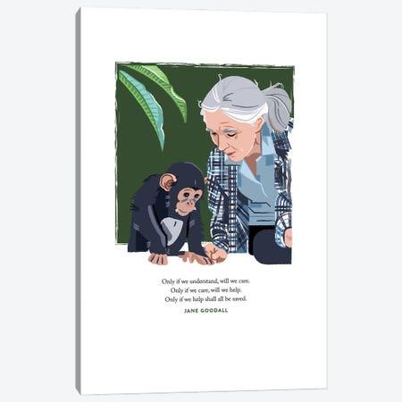 Jane Goodall Canvas Print #HVW41} by Holly Van Wyck Canvas Art