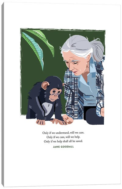 Jane Goodall Canvas Art Print