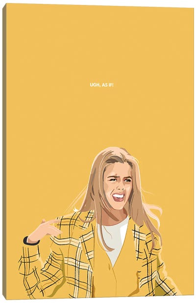 Cher Clueless Ugh, As If Illustration Canvas Art Print