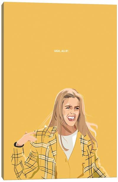 Cher Clueless Ugh, As If Illustration Canvas Art Print