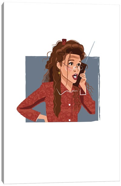 Elaine Benes Seinfeld Illustration Canvas Art Print