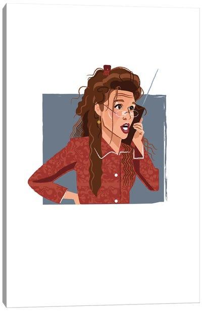 Elaine Benes Seinfeld Illustration Canvas Art Print