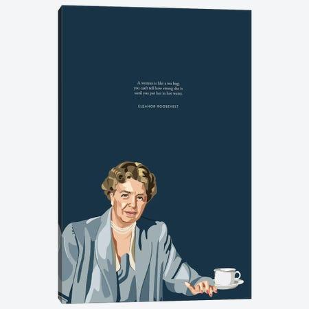Eleanor Roosevelt Tea Illustration Canvas Print #HVW8} by Holly Van Wyck Canvas Wall Art