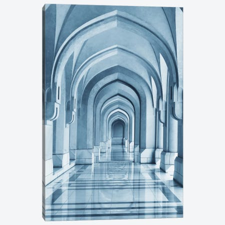 Portico Canvas Print #HWH10} by Hans-Wolfgang Hawerkamp Art Print