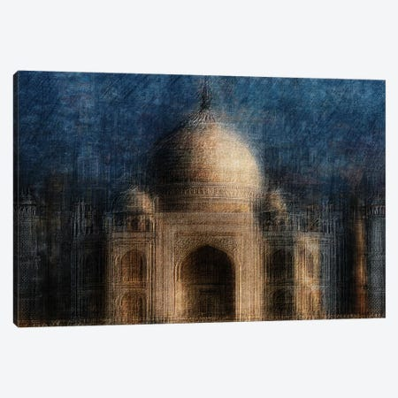 Taj Mahal Canvas Print #HWH11} by Hans-Wolfgang Hawerkamp Canvas Print