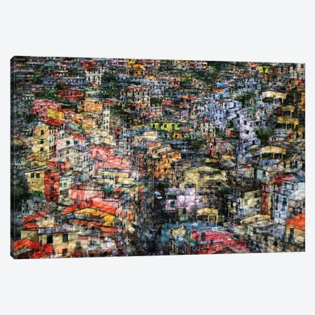 Cinqueterre Canvas Print #HWH7} by Hans-Wolfgang Hawerkamp Canvas Art
