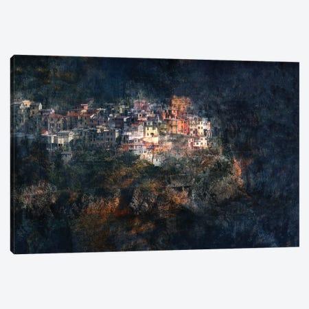 Manarola Blue Canvas Print #HWH8} by Hans-Wolfgang Hawerkamp Canvas Print