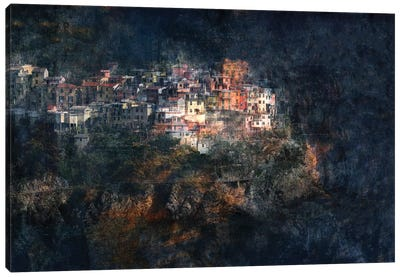 Manarola Blue Canvas Art Print