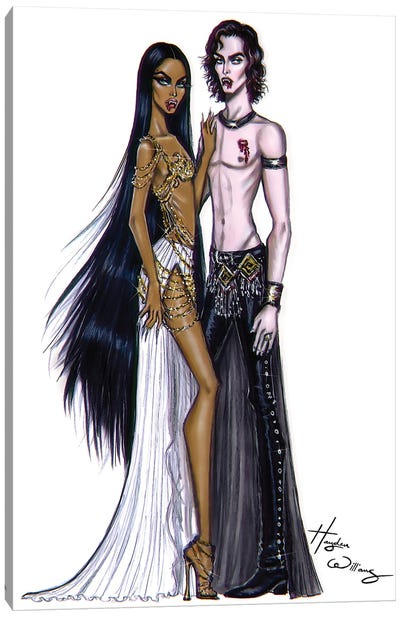 Queen Akasha & Lestat Canvas Art Print