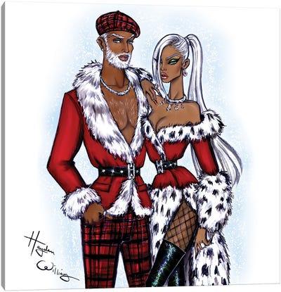 Mr. & Mrs. Claus Canvas Art Print