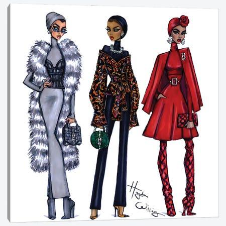 Modest Fashion Canvas Print #HWI126} by Hayden Williams Canvas Artwork