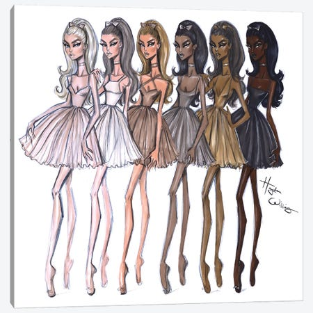 Shades Of Beauty Canvas Print #HWI14} by Hayden Williams Art Print
