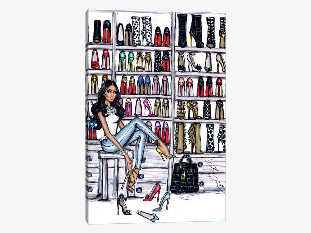 Shoe Closet by Hayden Williams 1-piece Canvas Wall Art