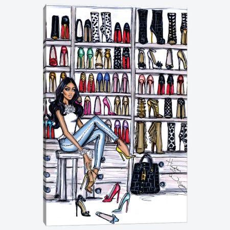Shoe Closet Canvas Print #HWI15} by Hayden Williams Canvas Art Print