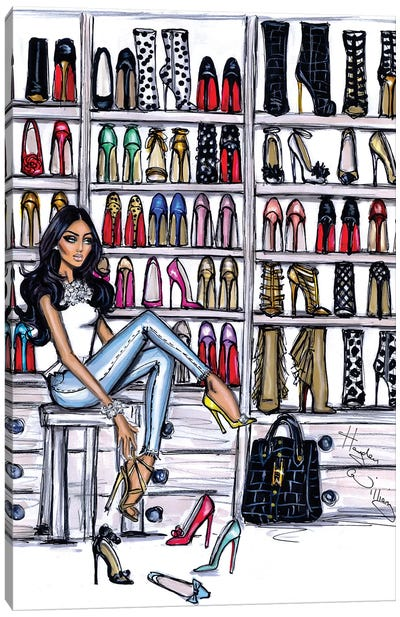 Shoe Closet Canvas Art Print