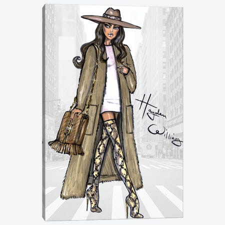 Sleek In Sandstone Canvas Print #HWI16} by Hayden Williams Art Print