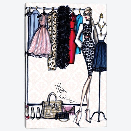 Designer Closet Canvas Print #HWI25} by Hayden Williams Canvas Art