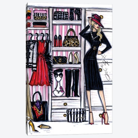 Fashion Closet I Canvas Print #HWI28} by Hayden Williams Canvas Print