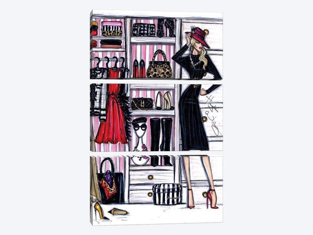 Fashion Closet I by Hayden Williams 3-piece Canvas Artwork