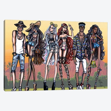 Coachella Vibes Canvas Print #HWI3} by Hayden Williams Canvas Wall Art
