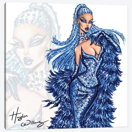 Blue Blood Canvas Print #HWI48} by Hayden Williams Canvas Print