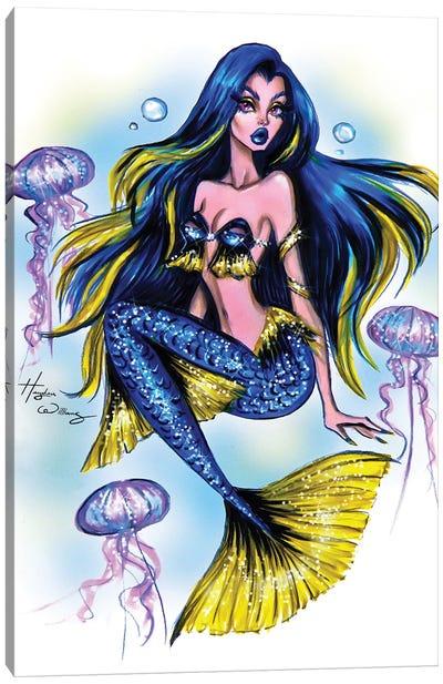Just Keep Swimming! Canvas Art Print