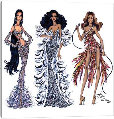 70's Divas Canvas Art Print