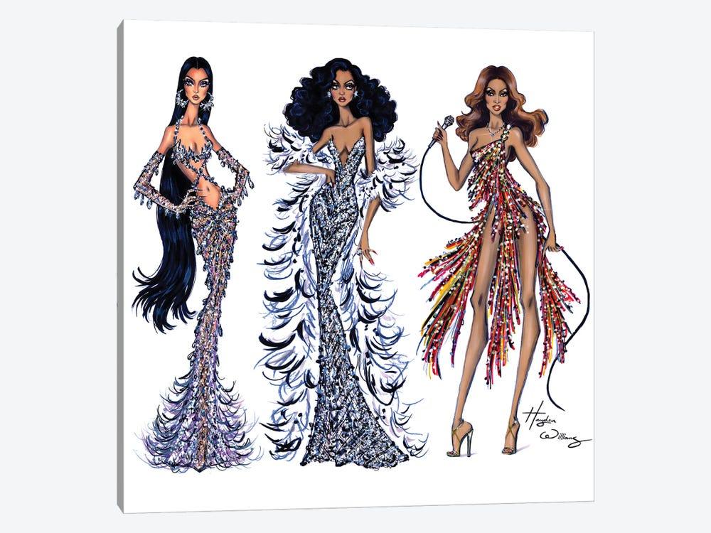 70's Divas by Hayden Williams 1-piece Canvas Print