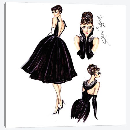 Little Black Dress 3-Piece Canvas #HWI64} by Hayden Williams Canvas Art