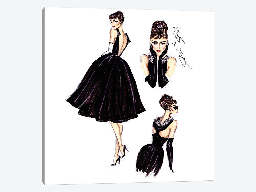 Little Black Dress by Hayden Williams 1-piece Canvas Artwork