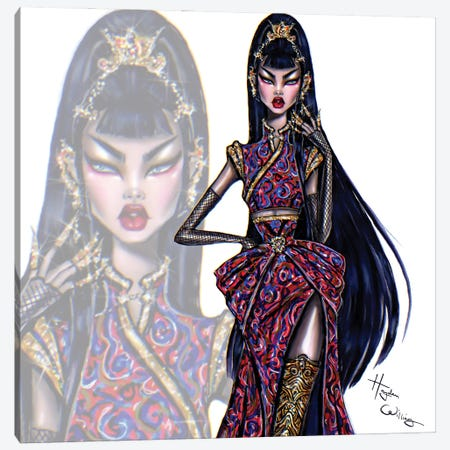 Oriental Beauty Canvas Print #HWI74} by Hayden Williams Art Print