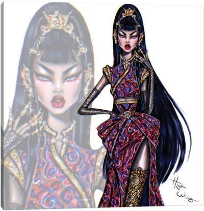 Oriental Beauty Canvas Art Print