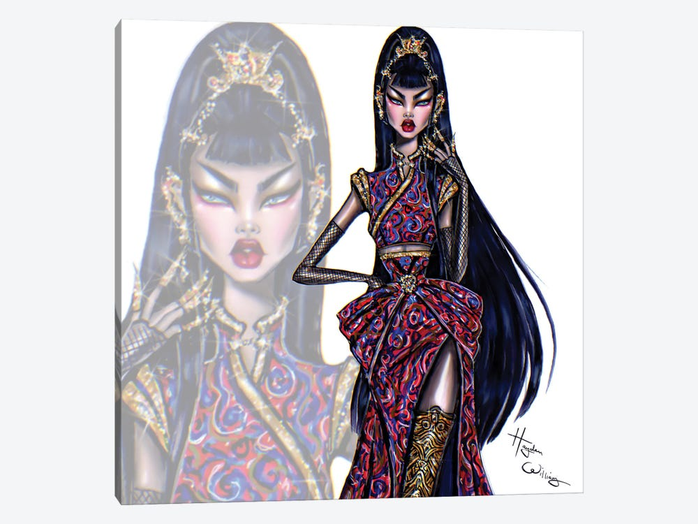 Oriental Beauty by Hayden Williams 1-piece Canvas Print