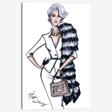 Miranda Priestly Canvas Print #HWI75} by Hayden Williams Art Print