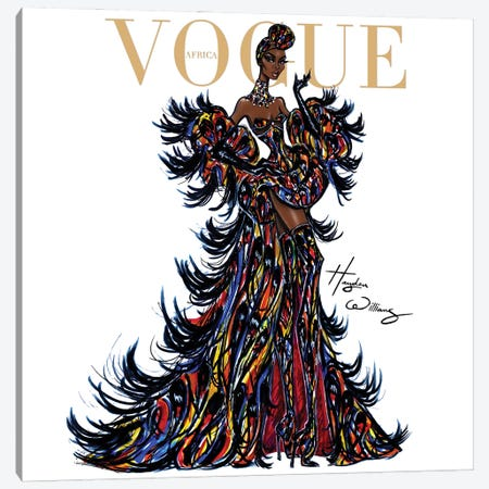 Vogue Africa 3-Piece Canvas #HWI77} by Hayden Williams Canvas Art Print