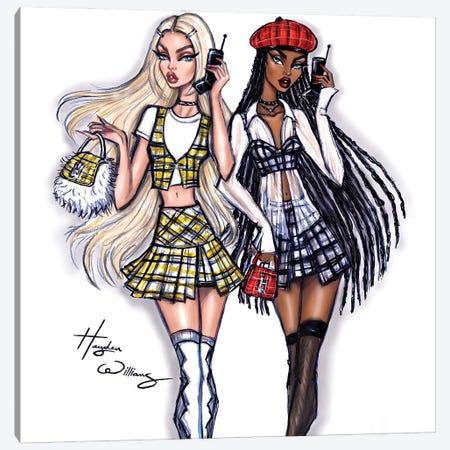 Clueless: Cher & Dionne Canvas Print #HWI81} by Hayden Williams Art Print