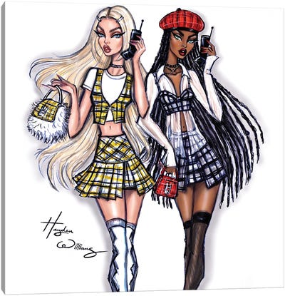 Clueless: Cher & Dionne Canvas Art Print
